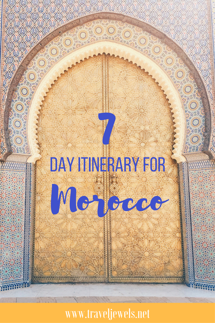 7 Day itinerary for Morocco