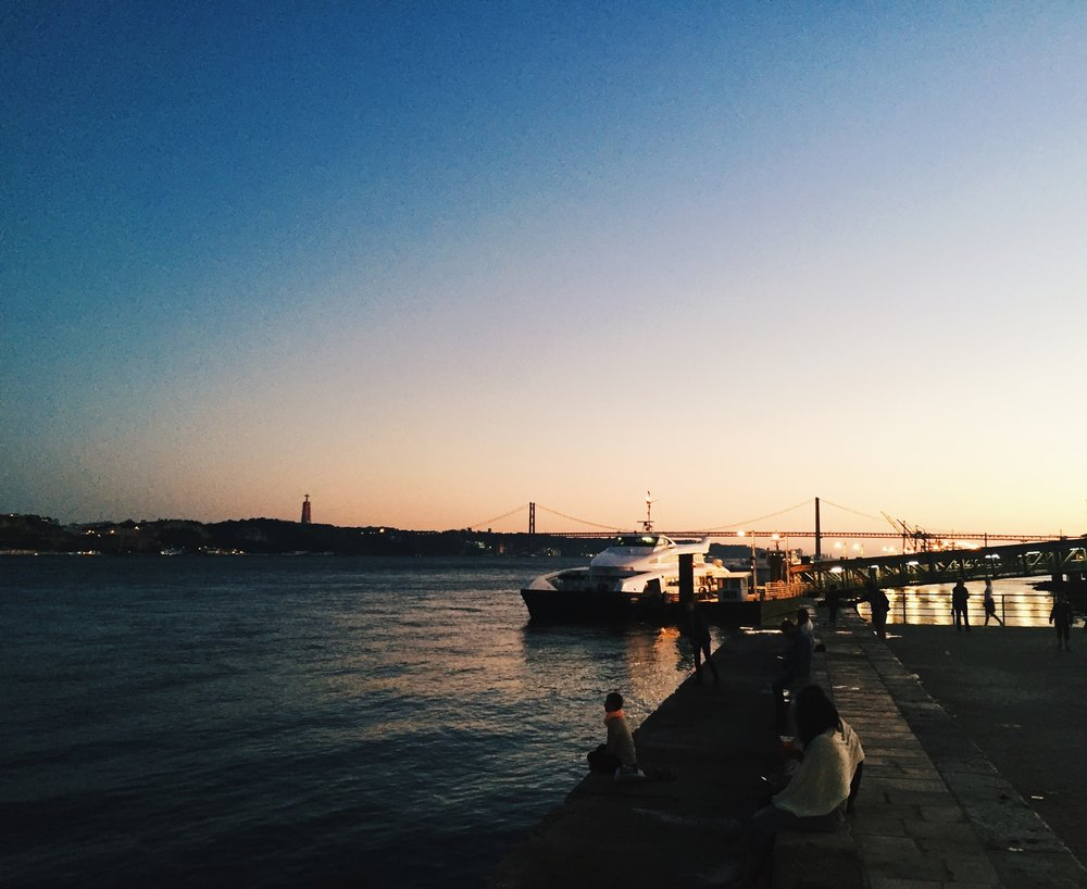 Lisbon Sunset by the Waterfront