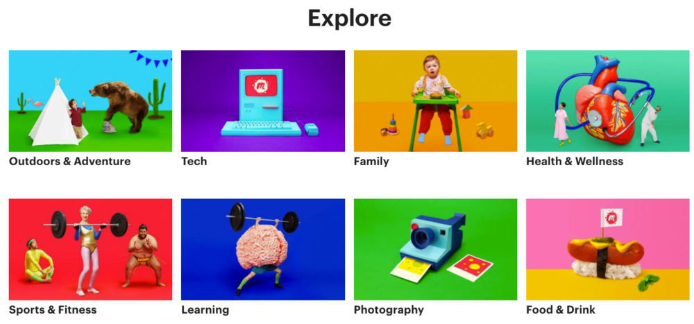 Meetup's Explore section allows you to find events by your interests!
