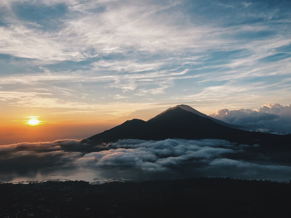 View of Mt. Agung, the volcano that recently erupted!