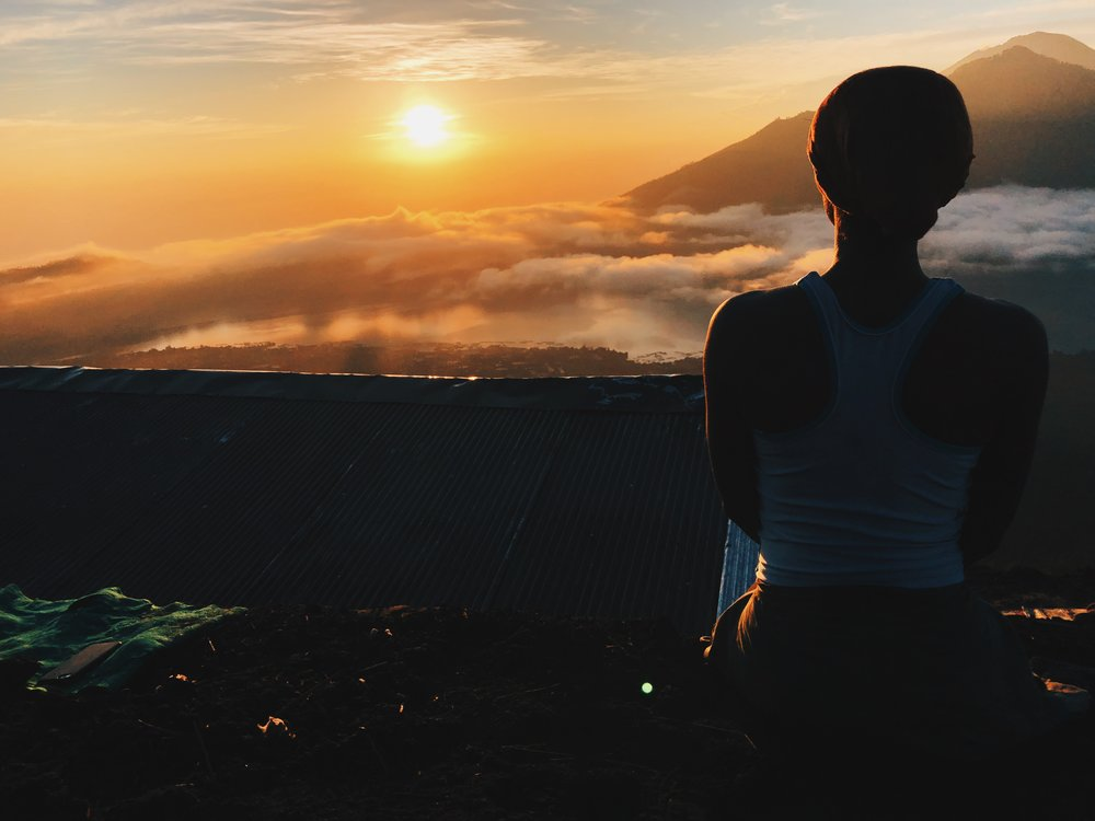 Sunrise hike up Mount Batur