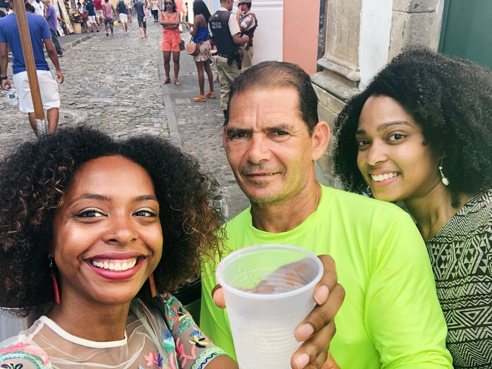 Phenesse and I with the Marketing Mastermind of the coco-lime juice cart.
