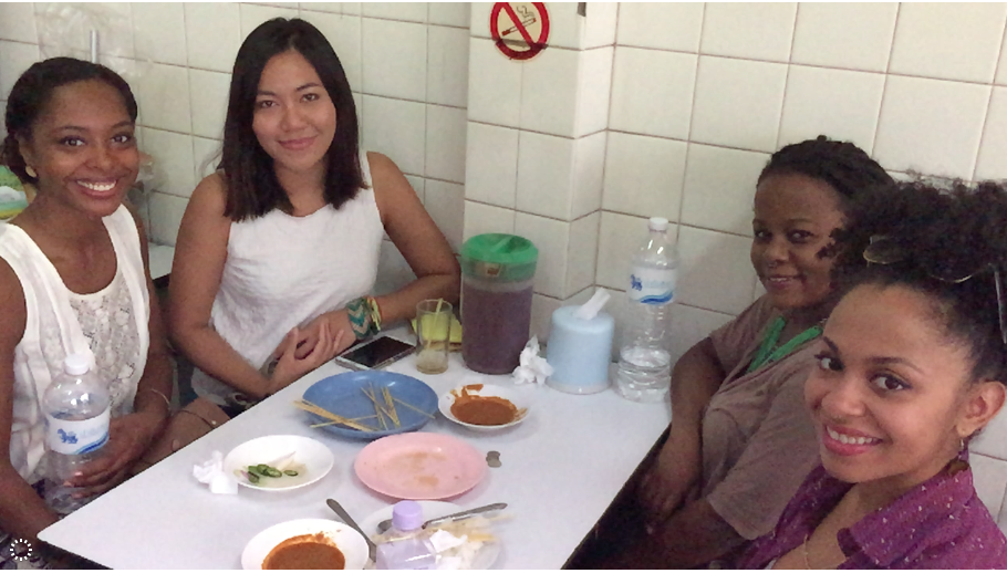 I was less adventurous with my food choices when I was traveling throughout Thailand (a country know for its peanut dishes). On my last day in Bangkok, we met up with a local friend who took us to a tasty local restaurant and served as our translator.