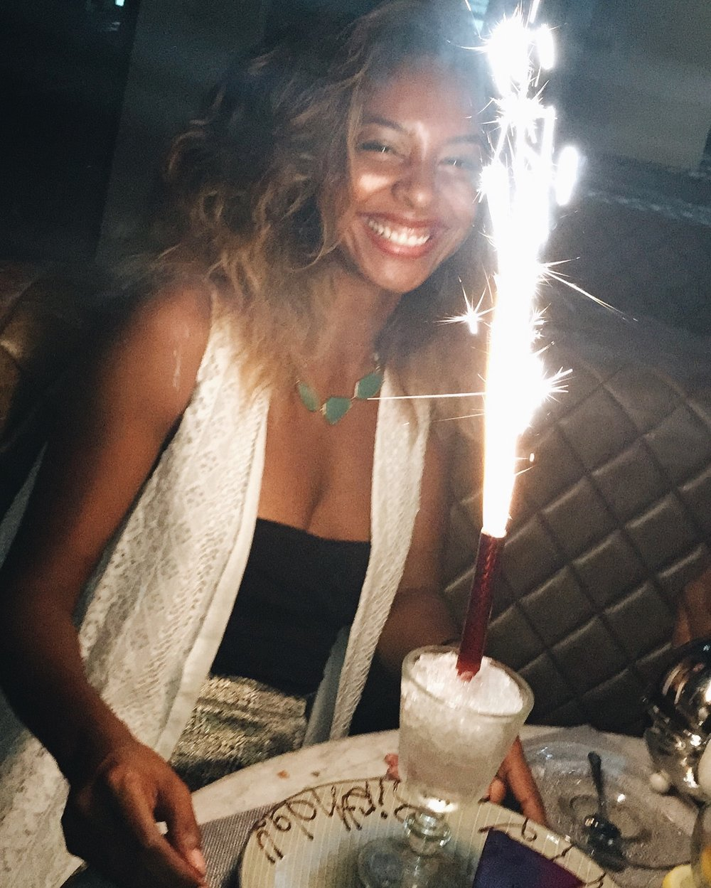 Me celebrating my 26th birthday in Accra, Ghana. I wanted to study abroad in Ghana during college, but was advised against it because of my peanut allergy. I'm glad I didn't let my allergy hold me back from experiencing such a beautiful country.