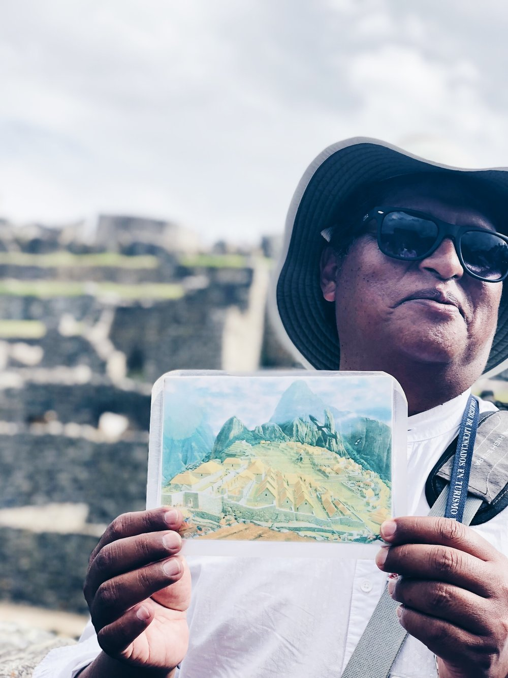 Our tour guide at Machu Picchu.