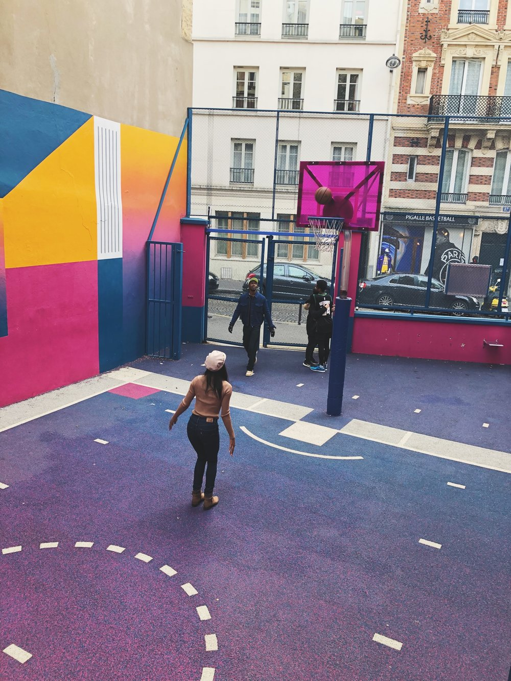 Guide to Visiting Paris in November- Pigalle Basketball Court