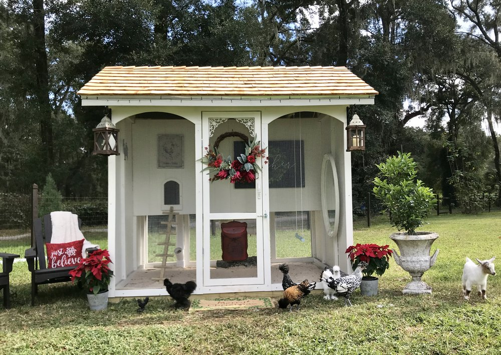 The French Country Garden Coophouses 6-8 chickens Starting at $2,100