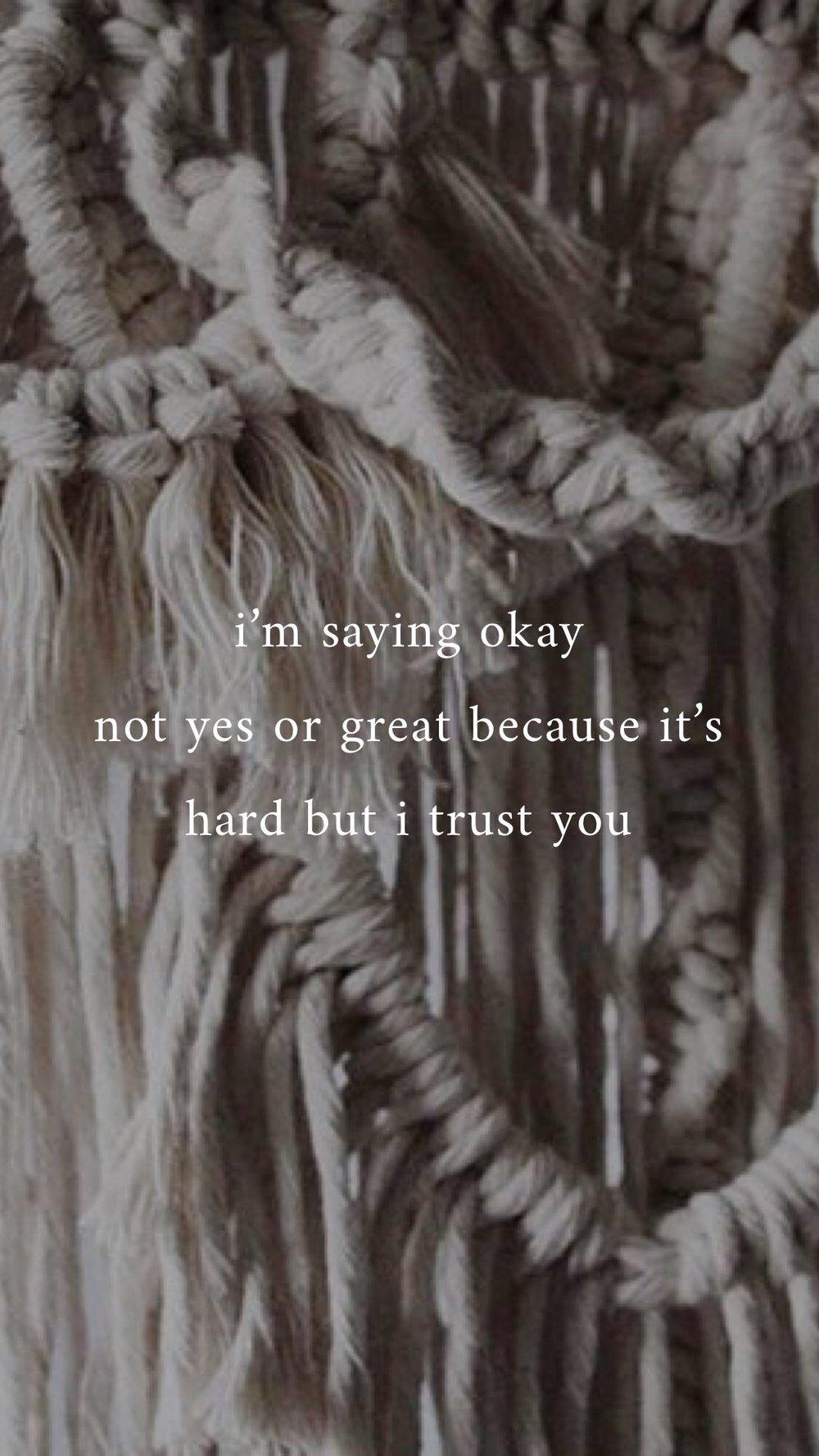 Surrender/Trust