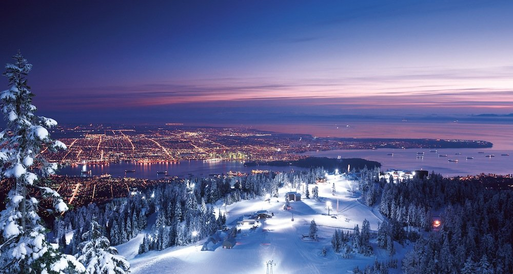 View of Vancouver from the top of Grouse Mountain