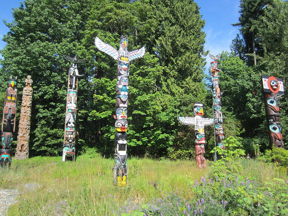 Totems in Stanley Park, Vancouver, BC