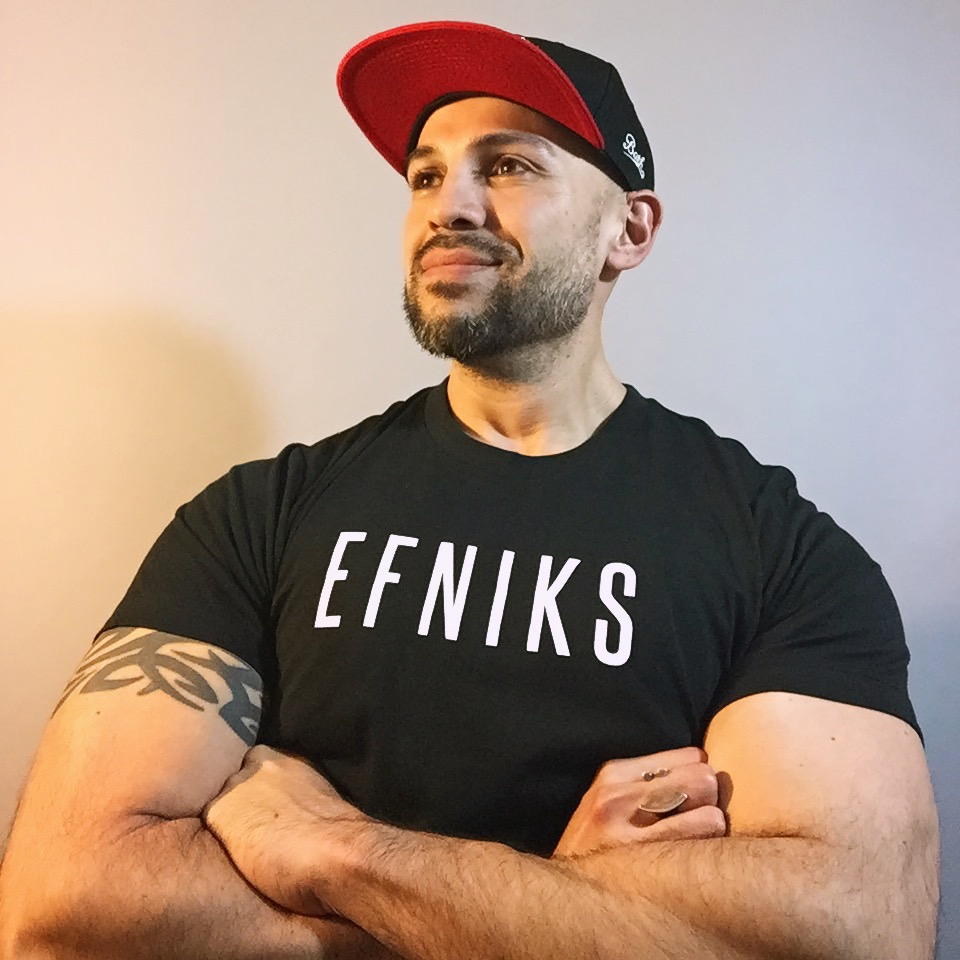 EFNIKS Logo Tee  - Available in sizes L, XL, 2XLWhite ink on black (100% cotton tee)3.7 oz. cotton (soft & lightweight)Click for more: Alternative Apparel Unisex Crew Tee