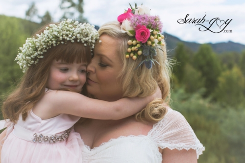 Melbourne wedding photography with flower girl