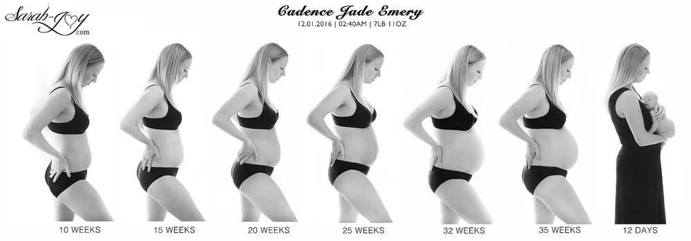 A pregnancy timeline over 9 months