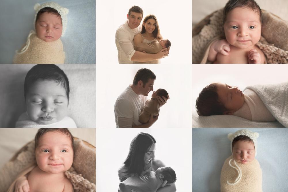 collage of newborn baby boy in melbourne