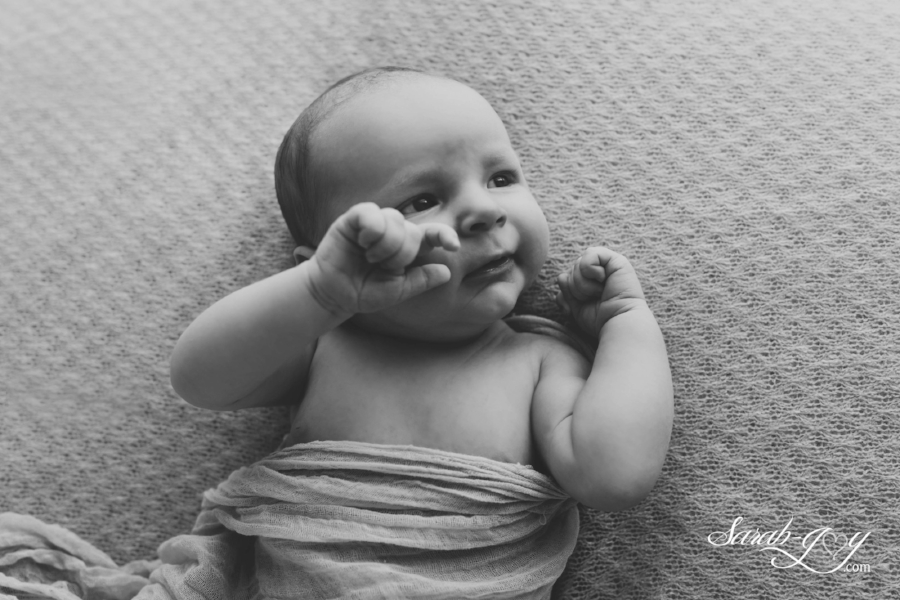 Funny Melbourne baby photo black and white