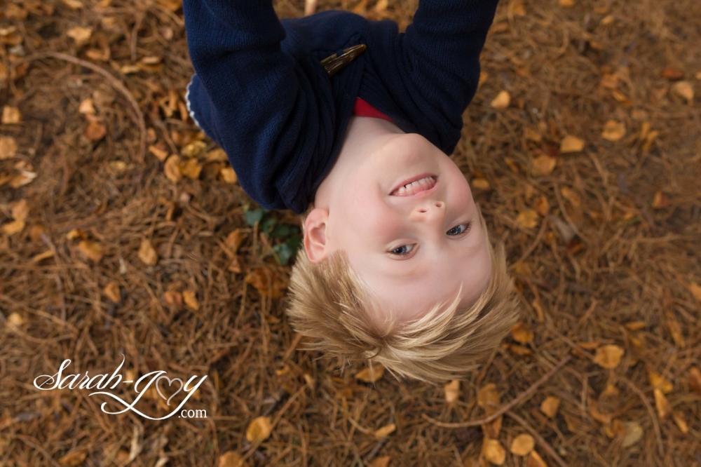 Autumn leaves photo shoot