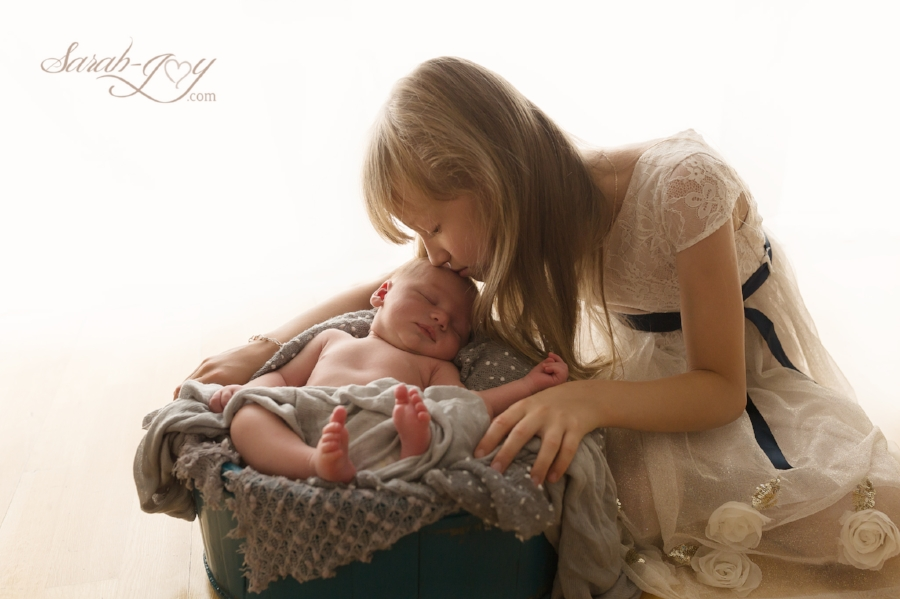 9 day old Baby Boy and big sister photoshoot