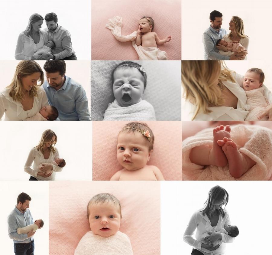 newborn baby girl collage melbourne photoshoot
