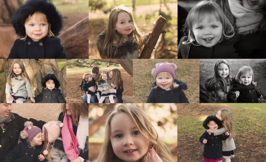 collage of family photoshoot in melbourne