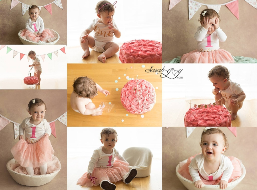 First birthday cake smash photoshoot in Melbourne
