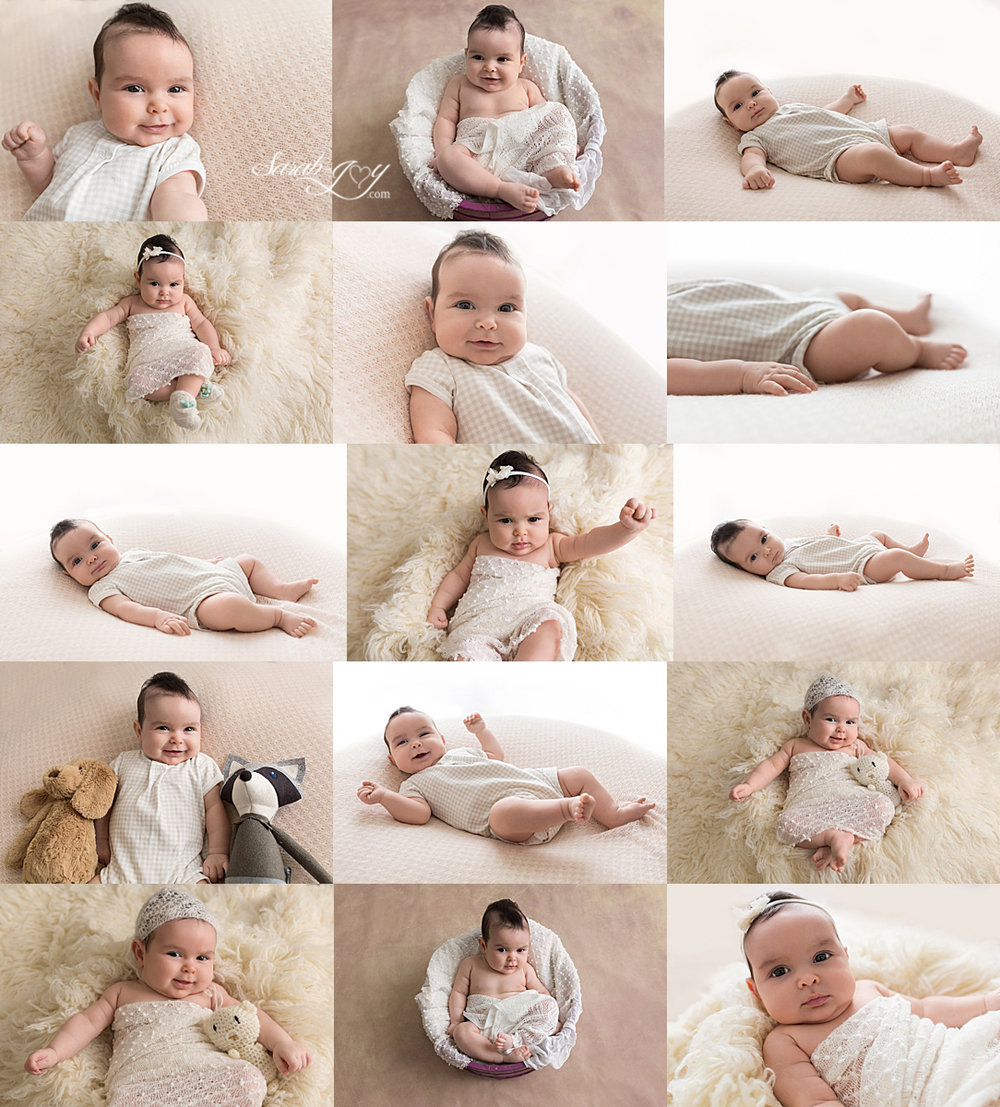 Melbourne newborn photography shoot collage