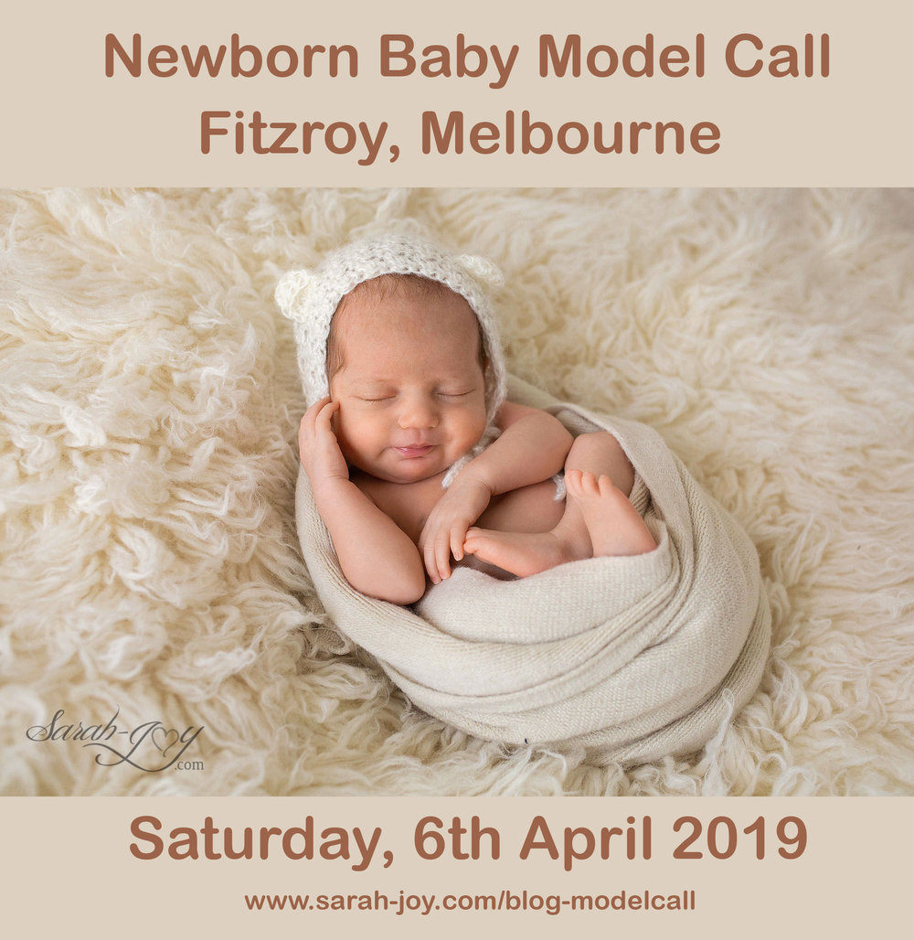 newborn baby model call melbourne photography by sarah joy
