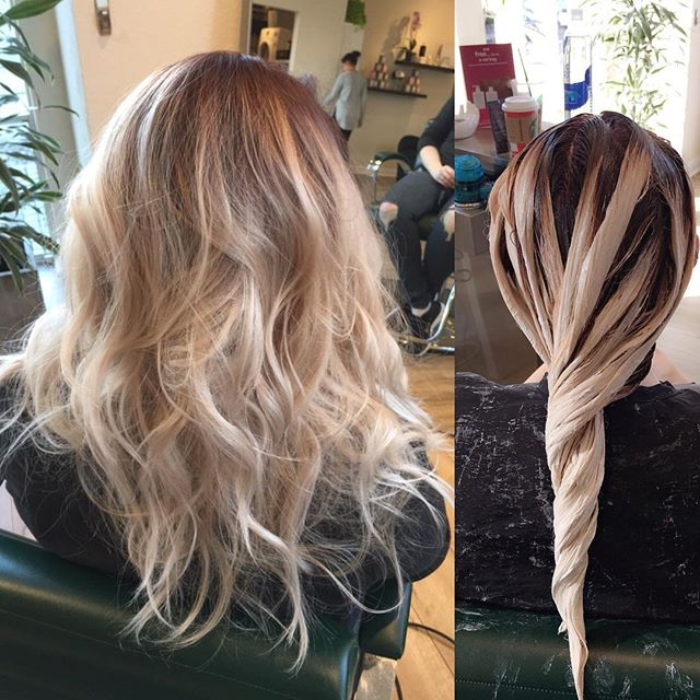 dreamy|contrast on this #citizenbabe • • • • • #wella #contrast #montereysalon #fortheloveofhair #goodhairforthepeople #montereyhairstylist #citizenhair #blondor #blonde #rootyblonde #chnageisinthehair #hotmoms #violetroots #rootshadow #hairpainting