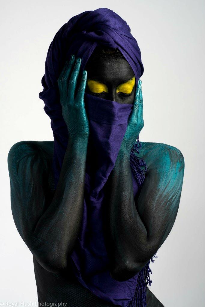"""Alien"" Photo by Tom Mac/ Body Paint by Pintor Bodypaint"