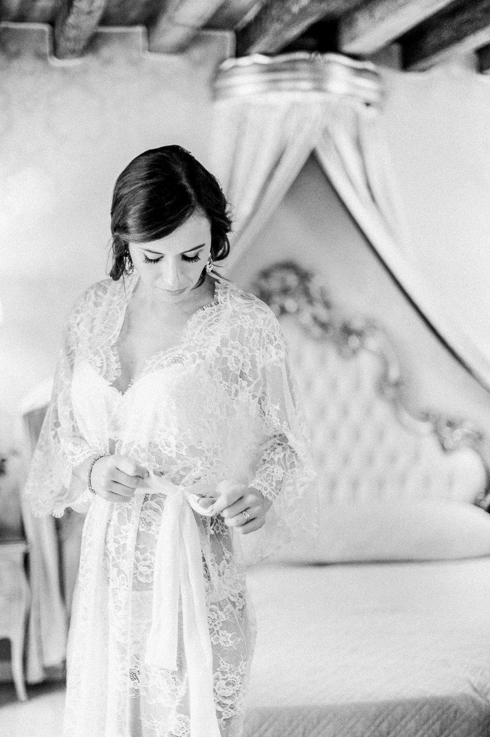 Mes Petites Dentelles bridal lace robe