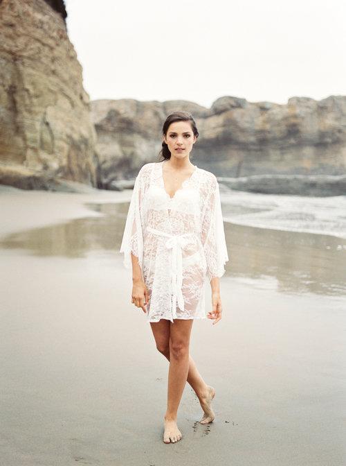 6f6bab81851 AMBRE lace robe - Chantilly lace robe - bridal lace robe