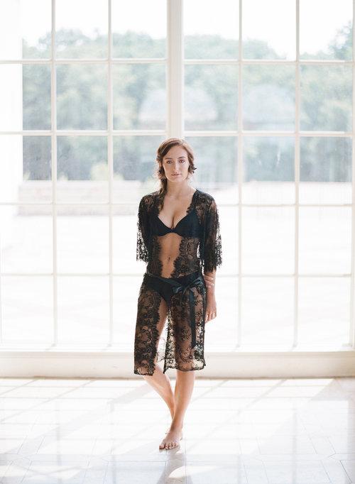 READY TO SHIP   AMELIA lace robe - Black Chantilly lace robe - bridal lace  robe - lace kimono - STYLE 215. 071 MPD Lookbook.jpg 63082681a
