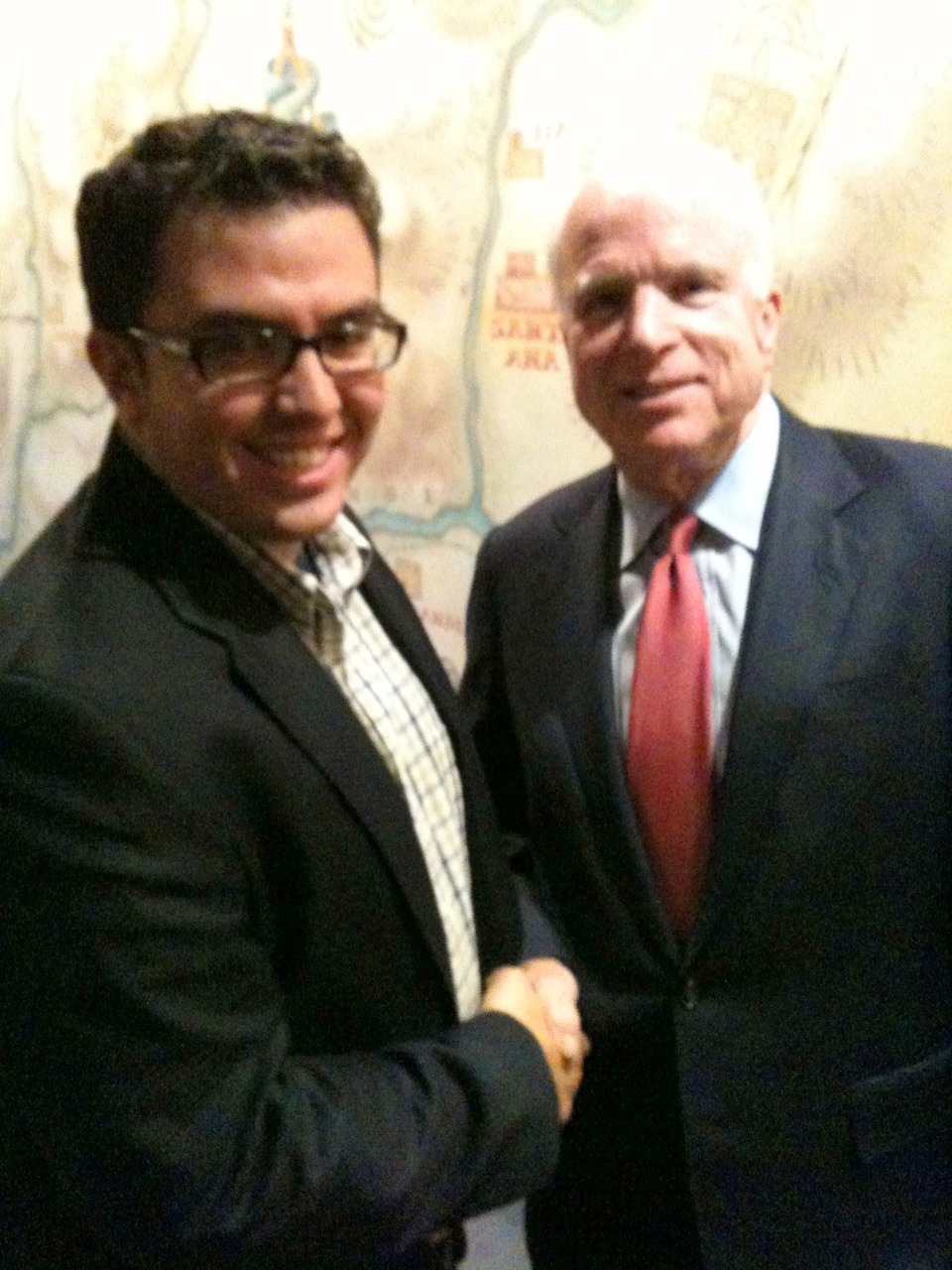 Sen. John McCain and I went I met him back in 2010.
