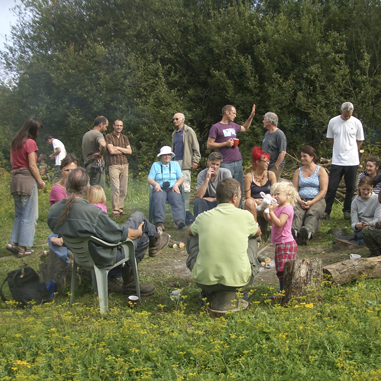 People sitting round in circle