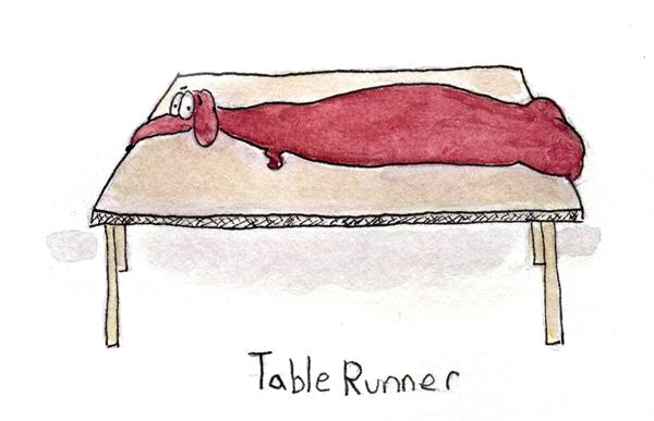TableRunner-dachshund