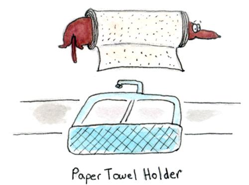 papertowelholder-dachshund