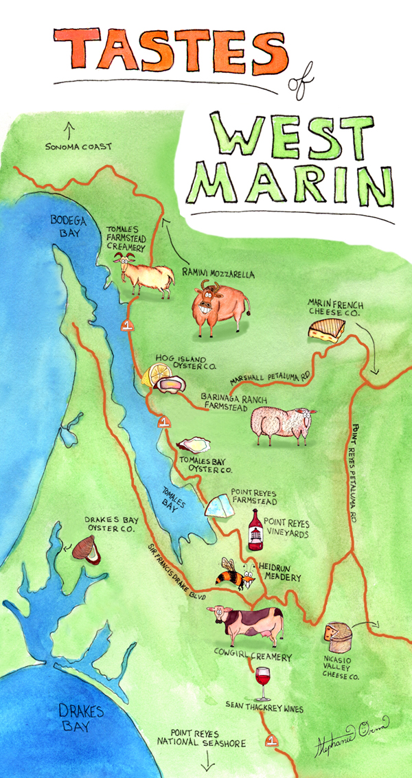 TastesOfWestMarin-map