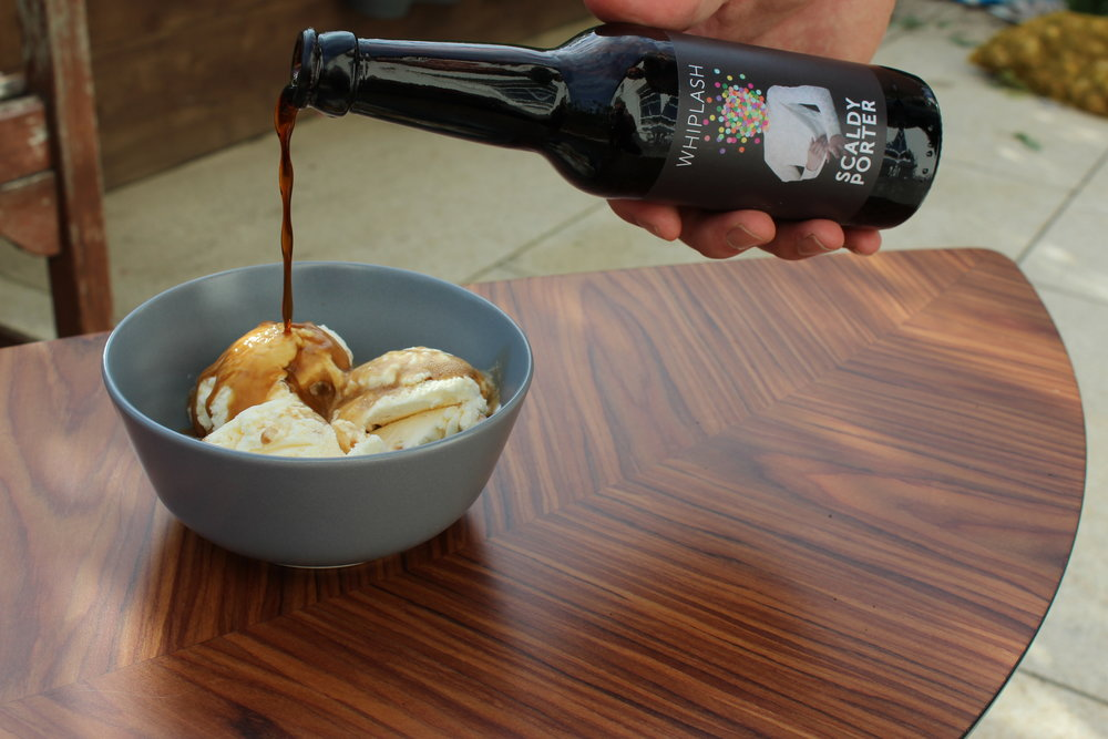Scaldy porter & honeycomb ice-cream