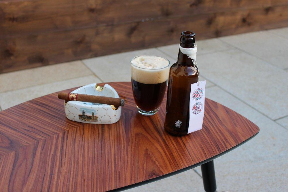 Gotta love the tacky cigar ashtray