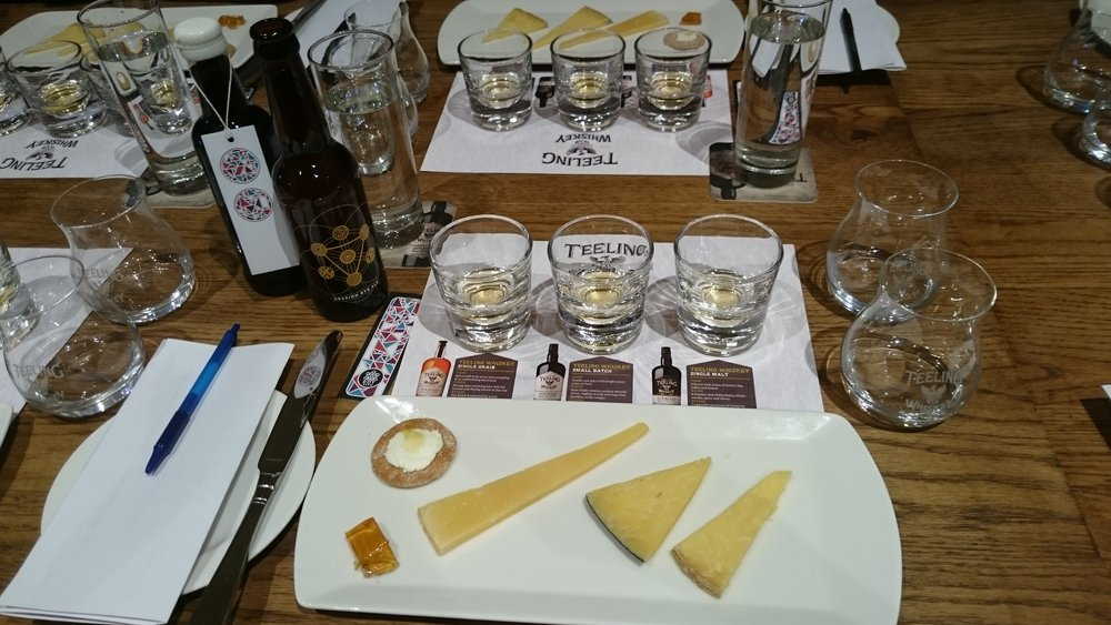The cheeses and a home made whiskey jelly