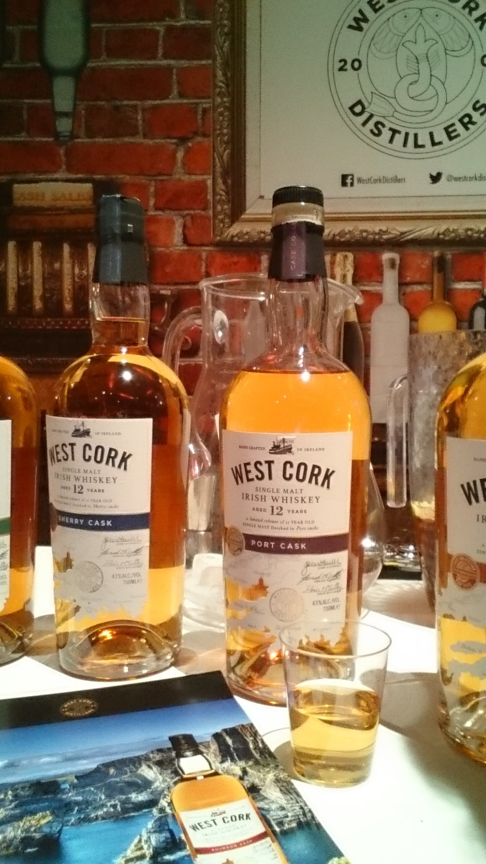 Whiskey being showcased at the event too. I tried the port cask by West Cork.