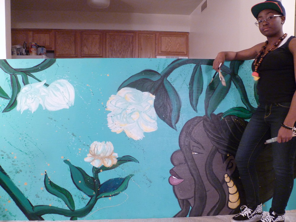 SHE BLOOMS: 8'x4' Mural & Me