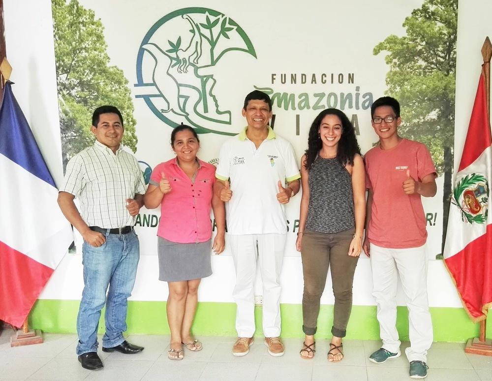 L'équipe de la  Fundación Amazonía Viva