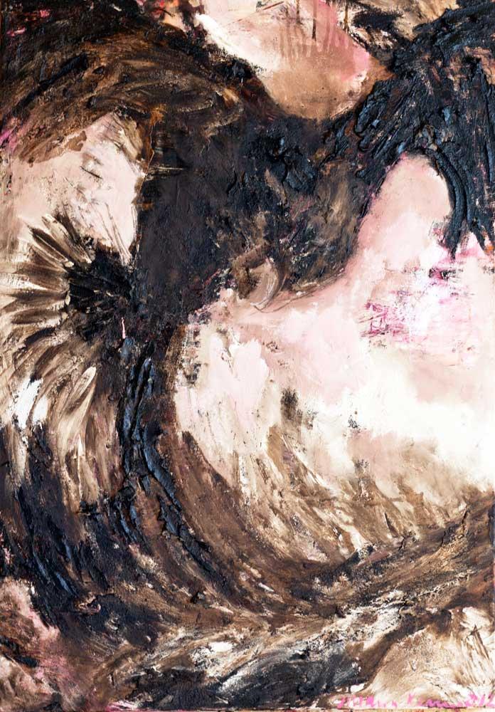 Phönix_ 2012_70x100cm_Oel,Bitumen auf Leinwand