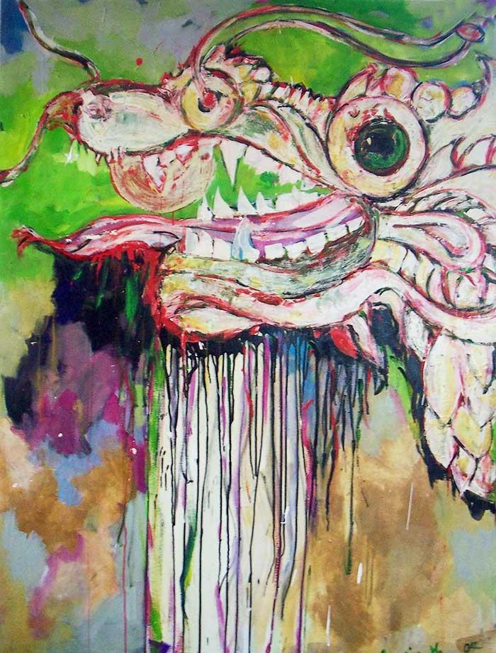 Auftragsarbeit für  Kung Fu Schule  Berlin von Hong Thay Lee