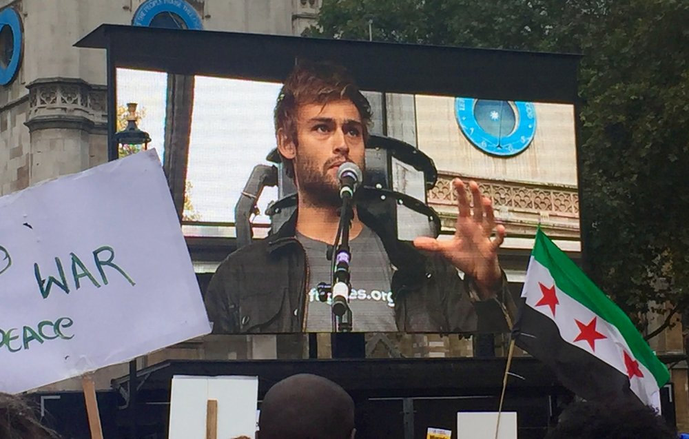 Douglas Booth speaks out for solidarity with refugees.