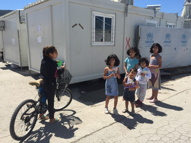 N EWS  Children in Skaramagas refugee camp in Athens   ACT NOW
