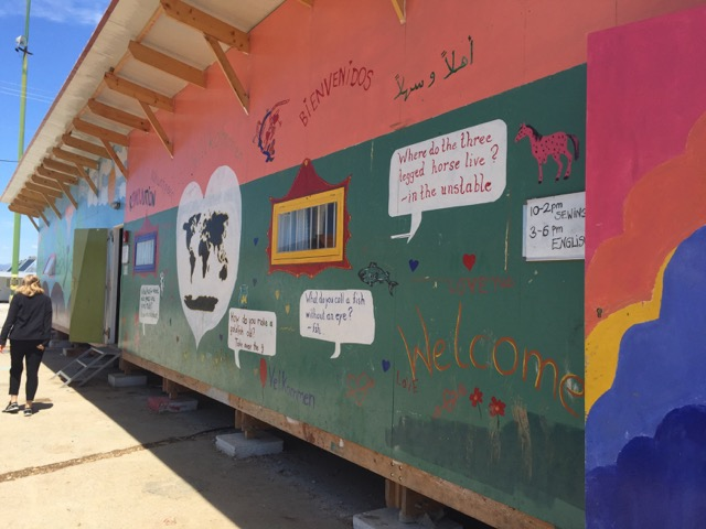 HOW YOU CAN HELP   Drop-in centre Skaramangas refugee camp in Athens, providing language classes and leisure activities, funded by Help Refugees and run by Drop in the Ocean. Visited by Juliet Stevenson on her recent trip   Find Out How →