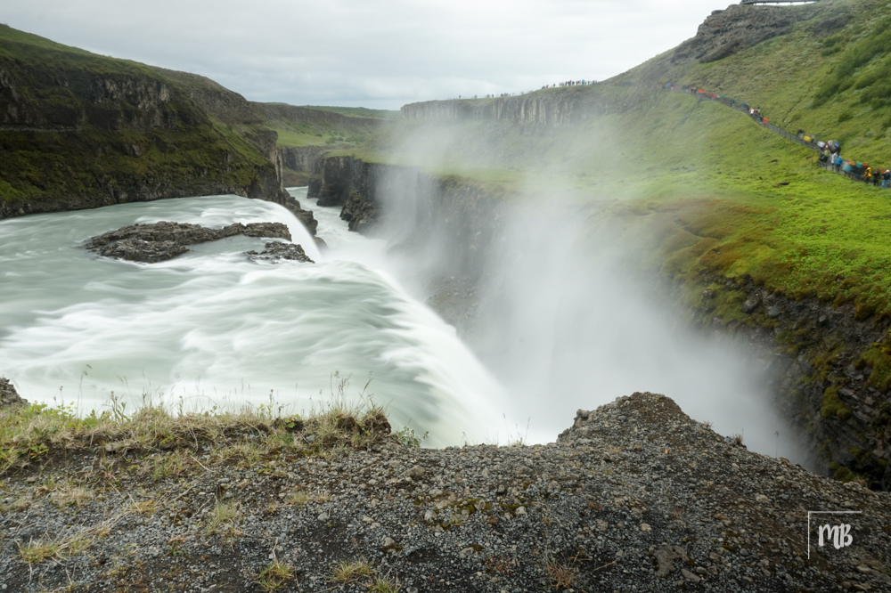 Gullfoss waterfall - Raincoat is a must! ;)