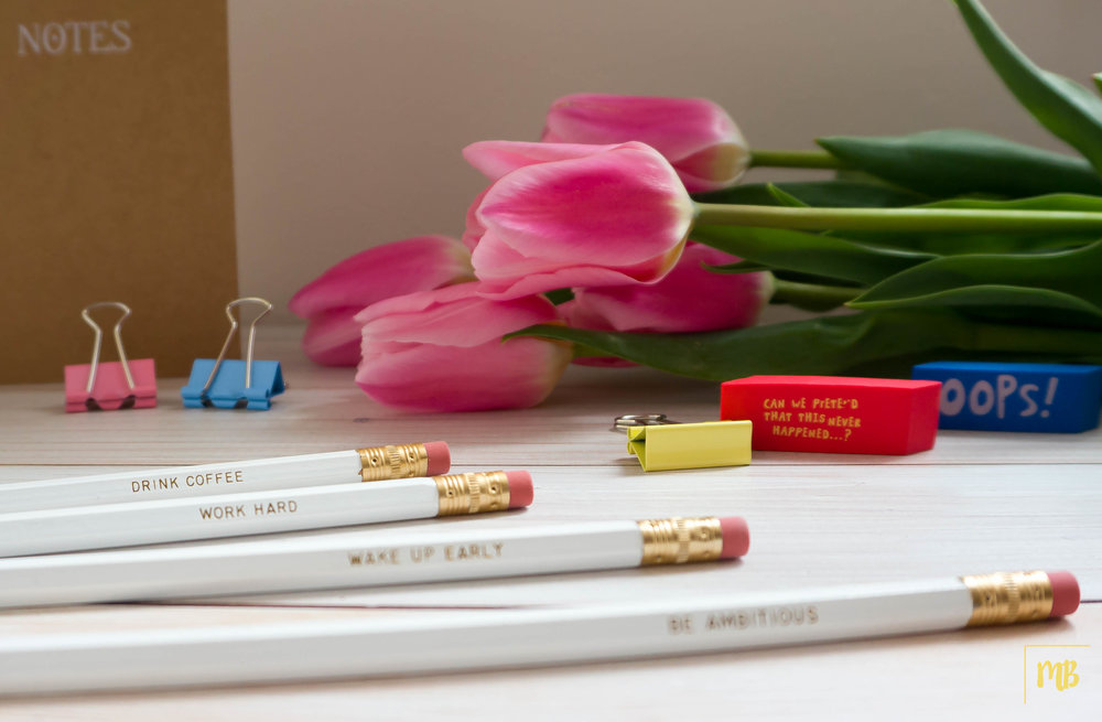 Motivational pencils from Etsy