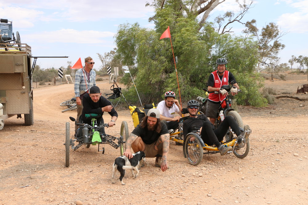 The Team L-R: Conrad Wainsborough, Dan Kojta, Nati the Dog, Ed Homan, Duncan Meerding, Paul Pritchard, Walter Van Praag.